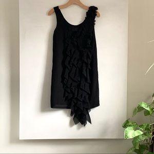 H&M Ruffled Chiffon Mini Dress